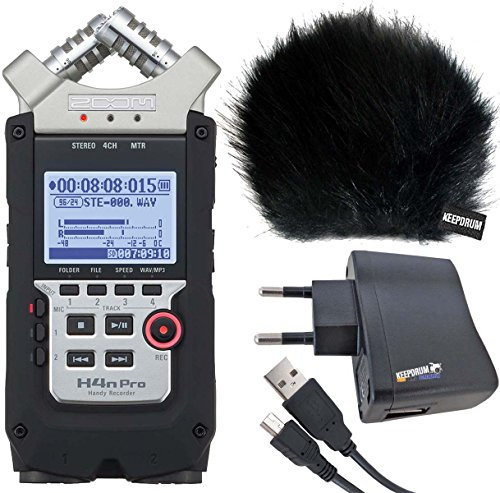 Zoom H4 N Pro Handy Recorder KEEPDRUM Set accessori