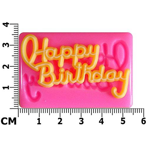 Kleines alles Gute zum Geburtstag Silikon Form für Kuchen Dekorieren, Kuchen, kleiner Kuchen Toppers, Zuckerglasur Sugarcraft Werkzeug durch Fairie - Halloween-bend-oder
