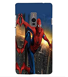 ColourCraft Superhero Design Back Case Cover for OnePlus Two