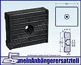 Gummipuffer für Bugauflage Bugstütze für Bootsanhänger Bootstrailer 120x100x31mm