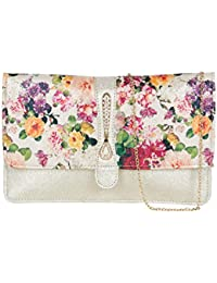 ADISA CL013 gold women clutch / sling bag