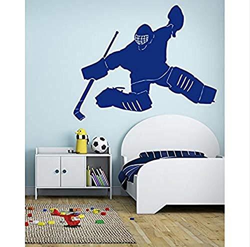 Wandsticker Jhping Hockey Spieler Torwart Wandaufkleber Eishockey Team Wettbewerb Wandaufkleber Kinderzimmer Jungen Schlafzimmer Korridor Gang Baby Wanddekor Geschenk