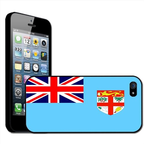 Fidji Drapeau Coque arrière rigide détachable pour Apple iPhone modèles, plastique, iPhone 5/5s