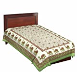 Green Color Camel Print Pure Cotton Sing...