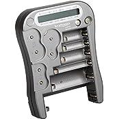 Kraftmax Batterietester Universal Batterie und Akku Testgerät mit LCD-Display - NEUESTE VERSION LX5900 mit Knopfzellen Test