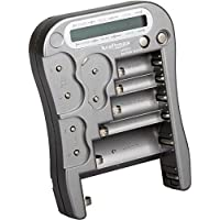 Kraftmax-Dispositivo comprobador universal de batería y cargador con pantalla LCD, nueva versión MW333 / LX5900 con pilas de botón