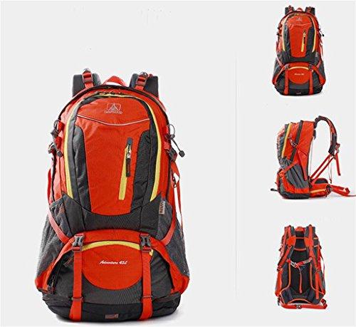 Professionali sport all'aria aperta borsa zaino uomini e donne sacchetto di alpinismo viaggiare a piedi ( Colore : Grigio , dimensioni : 45L ) Arancia