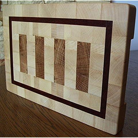 Tagliere End Grain Chopping Board Cutting Board Thick Maple Jatoba Oak 30.5x20.2x2.8 cm / 12x8x1.1 (Tagliere End)