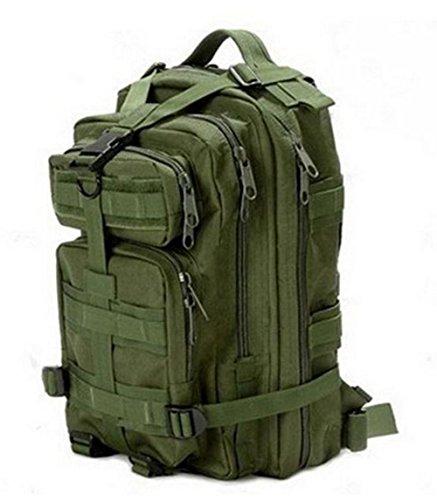 tacvasen 35L MOLLE Military Rucksack Wasserdicht Oxford Rucksack Tactical Outdoor Sport Tasche für Wandern, Trekking, Camping, Klettern Reise 3P Camouflage Attack Assault Day Pack armee-grün