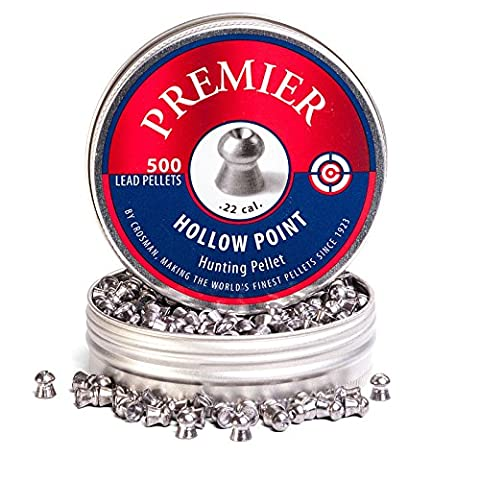 Crosman Premier Hollow Point Pellets .22 14.3gr 500 Tin 6-LHP22