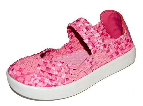 TMY DE1371 Mädchen Mary Jane Halbschuhe/ Geschlossene Ballerina, Farbe Rosa- Pink Gr.: 24-29 Rosa/ Pink