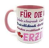 Danke-Tasse Erzieherin Kindergärtnerin inkl. Geschenkverpackung Sprüche Abschiedsgeschenk Geburtstagsgeschenk Farbe rosa