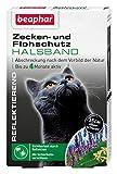 beaphar Zecken- & Flohschutz Halsband für Katzen | Zeckenschutz für Katzen | Reflektierendes Halsband gegen Zecken & Flöhe | Mit Sicherheitsverschluss | 1 Stk