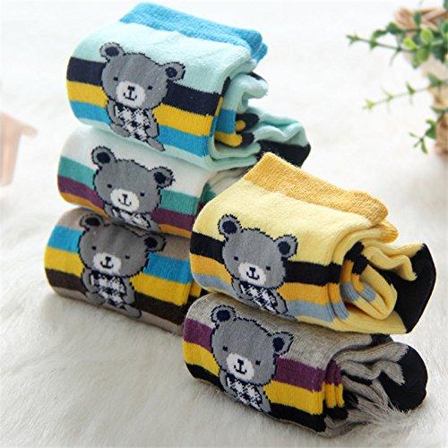 en und Strümpfe Streifen in Tube socks für Jungen und Mädchen aus reiner Baumwolle Socken, 5 Color Matching, 6-8 5 Paaren. (Neugeborene Jungen Tube-socken)