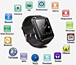 U8 Bluetooth Smart Watch Phone With Camera and Sim Card Support With Apps like Facebook and WhatsApp Touch Screen Multilanguage Android/IOS Mobile Phone Wrist Watch Phone with activity trackers and fitness band features compatible with Samsung IPhone...