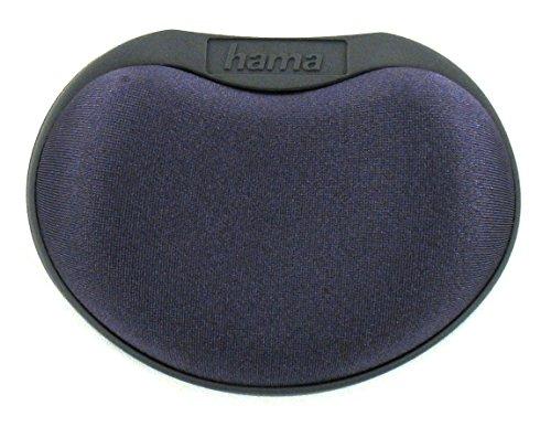 Hama Handballenauflage mit Schaumstofffüllung (Handballen Auflage für PC Anwendungen mit Maus oder Tablet Stift, Maße 105 x 75 x 25 mm, ergonomisch, verwendbar mit Mauspad) anthrazit