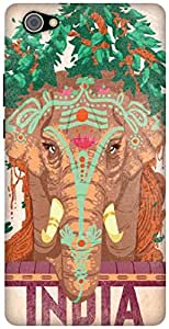 The Racoon Grip Indian Elephant hard plastic printed back case / cover for Vivo X5 Pro