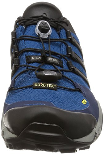 adidas Terrex Fast R Gtx, Scarpe da Arrampicata Uomo Blu (Tech Steel/Core Black/Collegiate Navy)