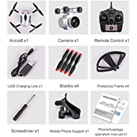 Price comparsion for Fantasyworld 4 Channel 6 Axes Long Endurance Remote Control Quadcopter Camera Drone UAV Positioning System Aircraft with 0.3MP Camera