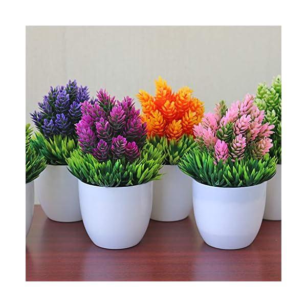 Gysad Planta artificial Fresco y natural Planta artificial pequeña Interesante y lindo Planta artificial pequeña con…