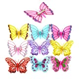 #8: 3D Glittering Butterfly Hair Clip for Girls with The Featured Alligator Clip Backing (Set of 6)