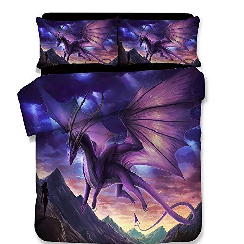 WNJ-bedding Bettdecken-Sets 2019, 3D Dinosaurier Vintage Bettbezug Bettwäsche Set Kissenbezug Dragon Twin Voll Königin König Tröster Bettwäsche-Sets Bettwäsche Jurassic -