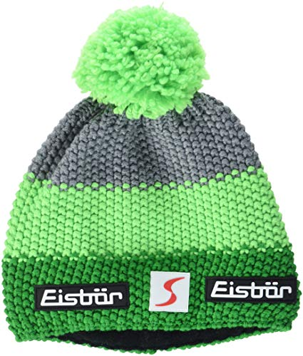 Eisbär Star Neon Pompon SP, Cappello Unisex, Electric/LightGreen/Graumele, Taglia Unica