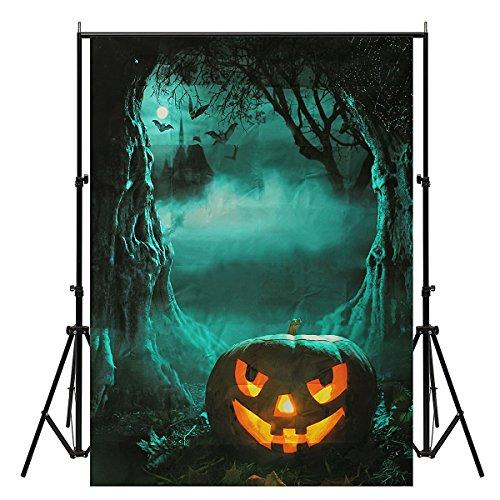 Werse 5x7ft Vinyl Halloween Nacht K¨¹rbis Fotografie Hintergrund Foto Studio Hintergrund (Halloween Studio Requisiten)