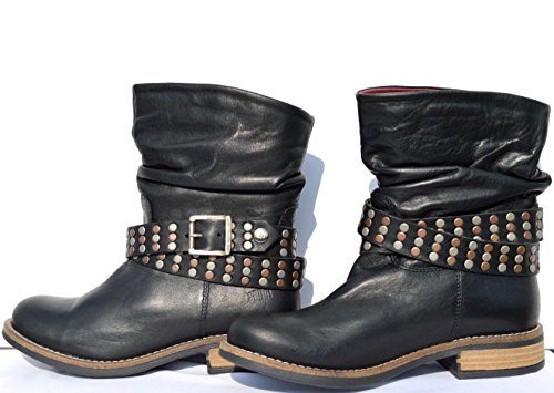 SHOOT sHOES cuir motoradstiefel 14145 bottes d'hiver Noir - Noir
