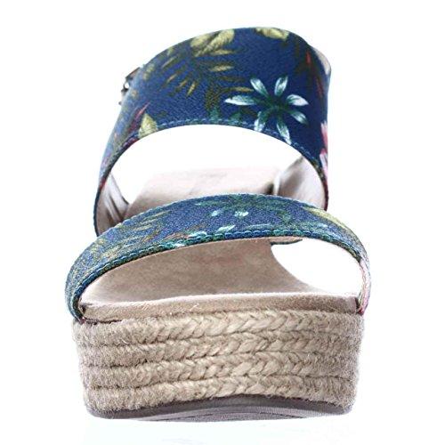 White Mountain Rharbor Toile Sandales Compensés Bleu
