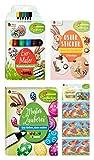 Heitmann Eierfarben, Zauber-Ei, Set, 4 tlg Eierfarbe,Zauberstift,Banderolen,Eier-Maler,Sticker, Mehrfarbig, 16 x 10 cm, 4-Einheiten