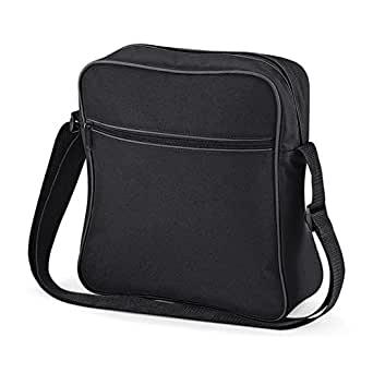Bagbase Retro Flight Bag Shoulder Bag Black/Graphite