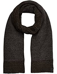 Armani Exchange Men's Two Tone Textured Knit Scarf, military/charcoal, One Size