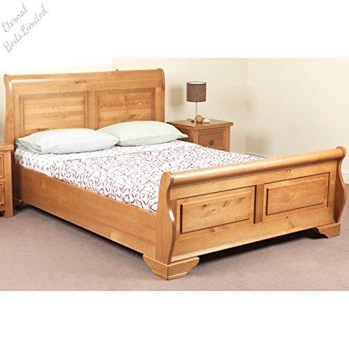 Sweet Dreams Jackdaw Wooden Bed Frame, 5ft Kingsize Bed Frame, Oak