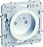Schneider Electric SC5S52A059 Odace - Enchufe con toma de tierra (2 x P + T, 230 V), color blanco
