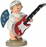 KWO Olbernhau 75680 Engel mit Gitarre, 5 cm