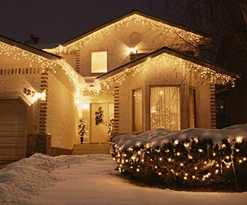 Icicle Lights Remote 1000 Led 35 5m Warm White Outdoor Christmas