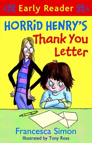 Horrid Henry's thank you letter