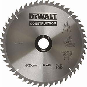 DeWalt DT1182 Mitre Saw Table Blade 254 x 30mm x 60 Teeth Construction