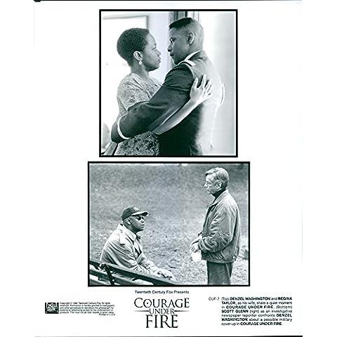 Vintage photo de Denzel Washington, Regina Taylor y Scott Glenn una estrella en un 1996película de Guerra estadounidense,