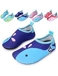 L-RUN Kinder Schwimmen Wasser Schuhe Barefoot Aqua Socken Schuhe für Beach Pool Surfen Yoga