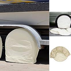 Enjoyall Set di 4 copertine di copricerchi in tela di Oxford impermeabile per camper da rimorchio per auto camper RV Auto,24-26″ 27-29″ 30-32″ 33-35″