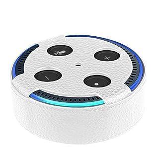 Fintie Amazon Echo Dot Hülle (nur für Echo Dot 2. Generation geeignet), Premium Kunstleder Schutzhülle Case Cover Tasche für Amazon All-New Echo Dot (2nd Generation), Weiß
