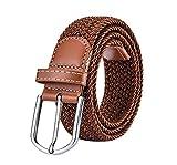 Leisial Cinturón de Lona Ocasional Color Sólido Plástico Cinturones Hebilla de Plástico Deportes...