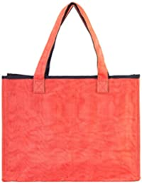 Eco-Friendly Vegan Over The Shoulder Admin Tote Bag (Persimmon) By Smateria