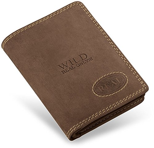 handliche kleine Geldbörse für Herren Naturleder WILD REAL ONLY (schwarz) braun