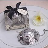 IGEMY Small Teapot Tea Strainer Stainless Steel Tool Wedding Party Birthday Baby Shower Favor Gift Souvenirs For Guests (Silver)
