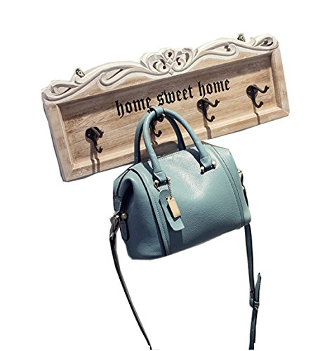 PACK Versione Coreana Lychee Pattern Borse In Pelle Boston Borsa Piccola Diagonale Retro Semplice Mini Spalla,Black(trumpet) LightBlue(trumpet)