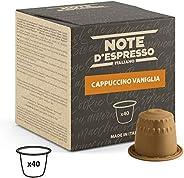 Note D'Espresso - Cápsulas de capuchino de vainilla instantáneo, 6,5g (caja de 40 unidades) Exclusivament