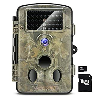 "Crenova 12MP 1080P HD Infrared Game&Trail Camera 42 Pcs IR LEDs 120¡ãWide Angle Night Vision 2.4"" LCD Display Waterproof Hunting Scouting Camera Digital Surveillance Camera"